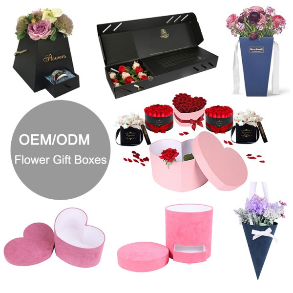 wholesale factory rose packaging recyclable luxury custom